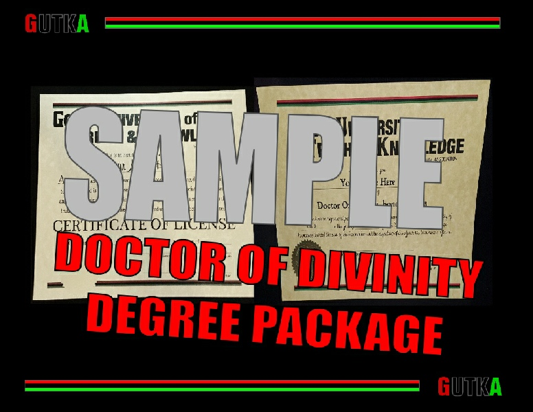 Doctor Of Divinity Degree Package